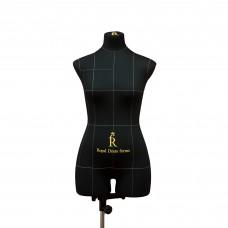 Манекен портновский Моника, комплект Про, размер 44, тип фигуры Песочные часы, черный