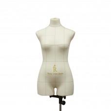 Манекен портновский Моника, комплект Про, размер 44, тип фигуры Песочные часы, бежевый