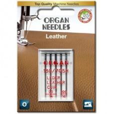 Иглы Organ кожа (leather) №90(3 шт.) №100(2 шт.) для кожи и кожезама