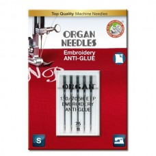 Иглы Organ вышивальные анти-клей (embroidery anti-glue) №75 5 шт.