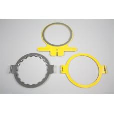 17130 Рамка малая круглая для вышивки на тонких изделиях, 14 см. диаметр.