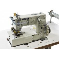 2-х игольная машина цепного стежка, с устройством подачи ленты и пуллером JATI JT-1402D-48