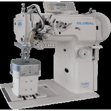 Global LP 1646-XLH Двухигольная колонковая промышленная швейная машина с челноками 2 XXL