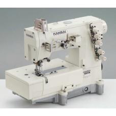 Kansai Special WX-8803CLW 7/32'' Промышленная плоскошовная швейная машина с плоской платформой голова
