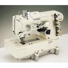"""Kansai Special WX-8803D-UF/UTC-A 1/4"""" Промышленная плоскошовная швейная машина с плоской платформой голова"""