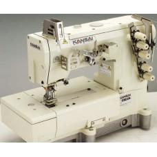"""Kansai Special WX-8803D/UTC-A 1/4"""" Промышленная плоскошовная швейная машина с плоской платформой голова"""