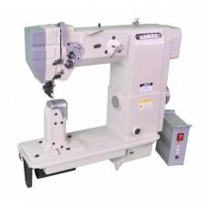 Колонковая двухигольная швейная машина челночного стежка с роликовым нижним, верхним продвижением и прямым приводом JATI JT-9920D (комплект)