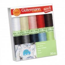 Набор ниток Gutermann Top Stitch 10 катушек по 30м