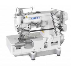 Плоскошовная швейная машина с устройством для пришивания резинки JATI JT- 588-05CBх364 голова