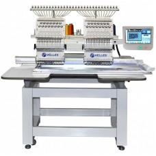 Промышленная 2-головочная 15-ти цветная вышивальная машина для рукавной вышивки с облегчённым корпусом VE 1502CAP-SE
