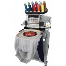 Промышленная компактная одноголовочная вышивальная машина со столом, набором пялец и операционной системой (MOS) MELCO EMT16